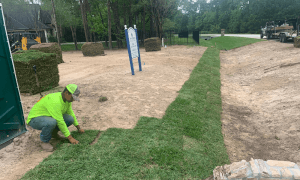 image of sod installation for a home builder