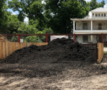 image of black mulch