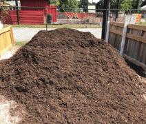 image of natural brown hardwood mulch