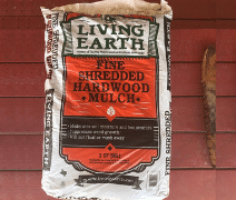 image of hardwood bark mulch sold by the bag