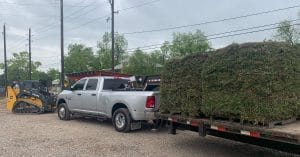 image of pallets of grass for delivery